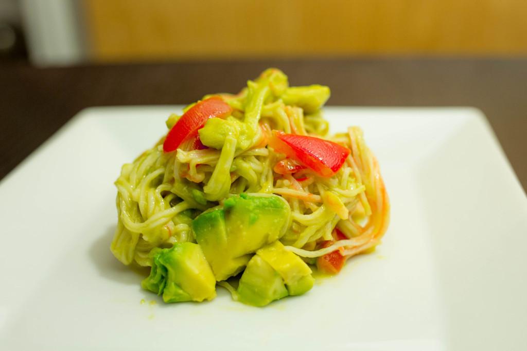 Andalumami Salad Recipe (Avocado, Tomato, Surimi and Miso)