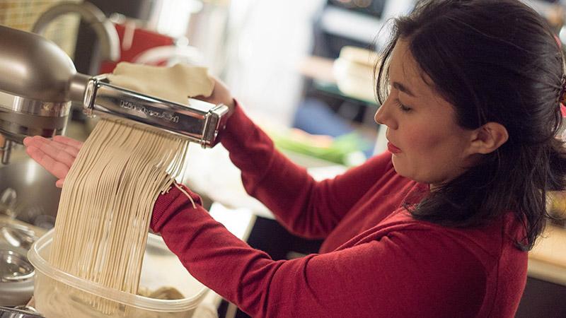 Ramen Noodles in a KitchenAid Mixer